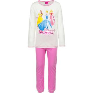 Pigiama Bambina Disney Principesse 3-6 maniche lunghe in cotone estivo ART.HQ2159 LATTE